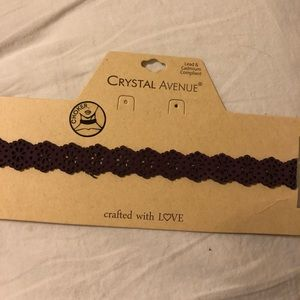Jewelry - Purple leather choker!